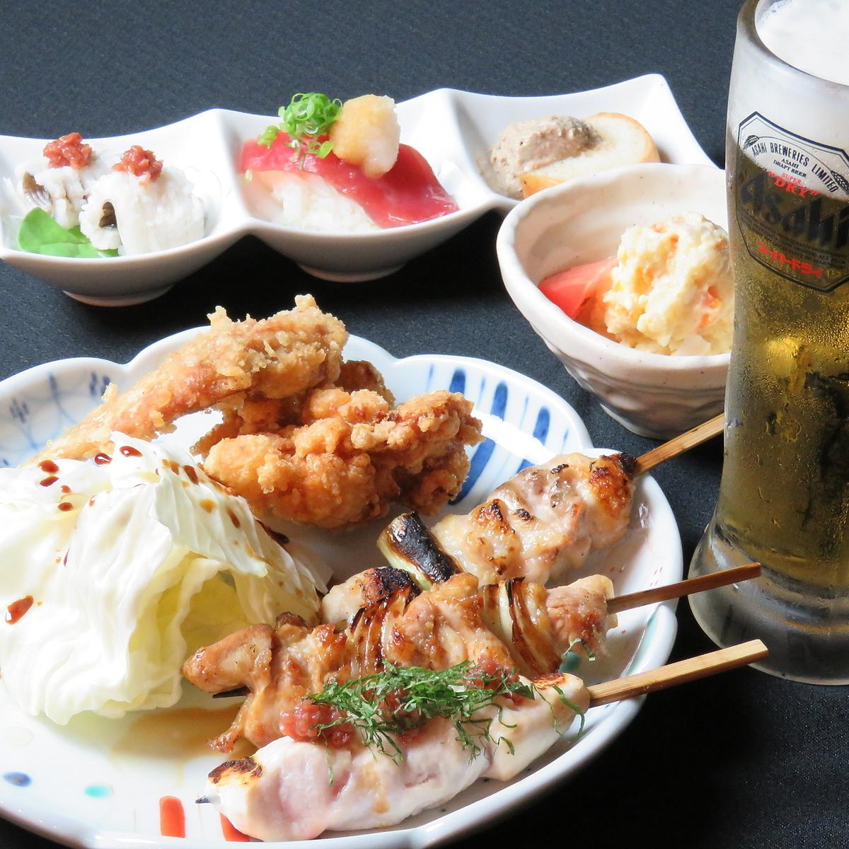Seto bird set (your favorite drink + plenty + zombie + 3 yakitori)