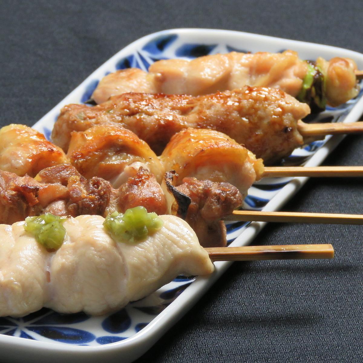 Carefully selected yakitori platter