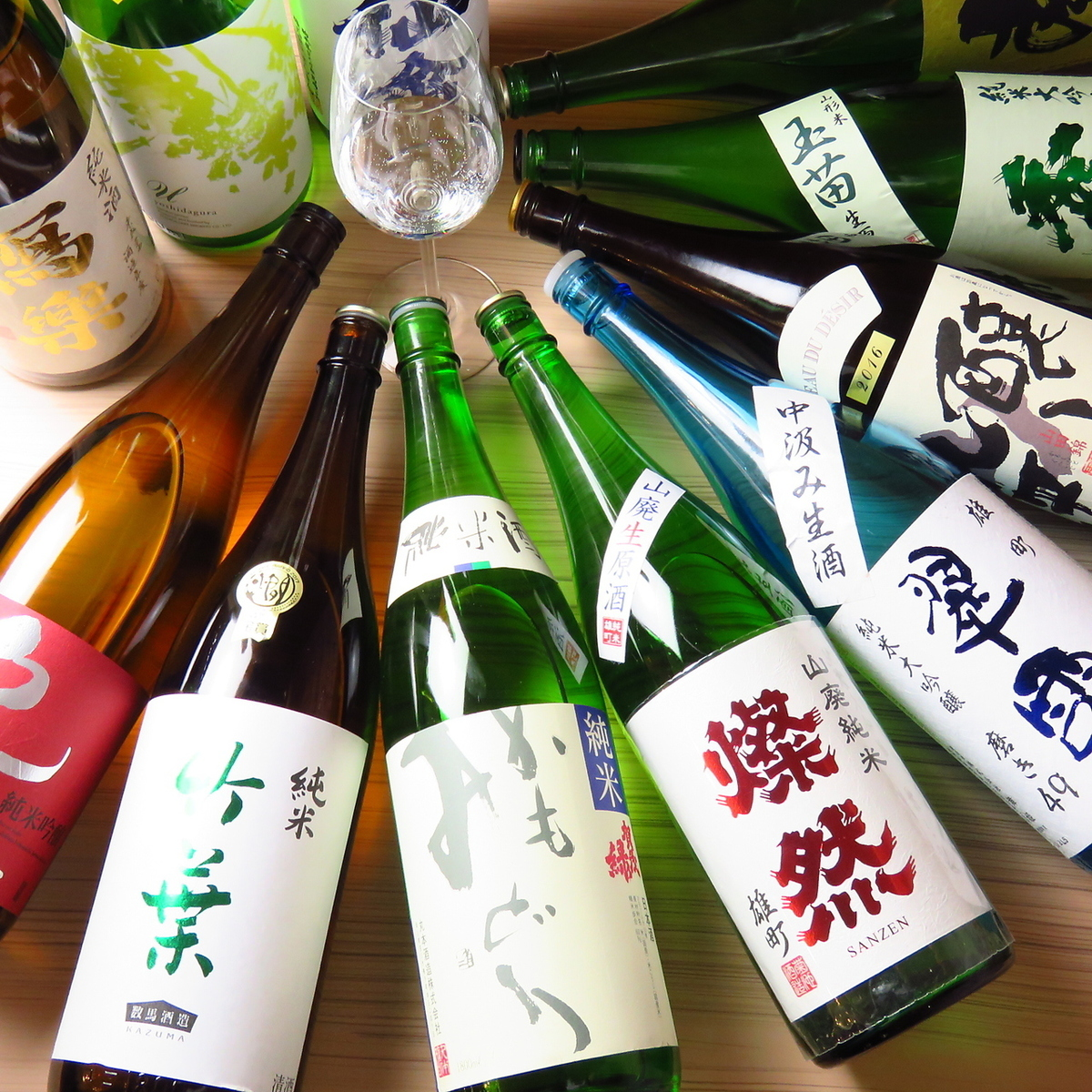 """""""Distinctive commitment local sake ☆ Continuous sake ordered from all over the country"""""""