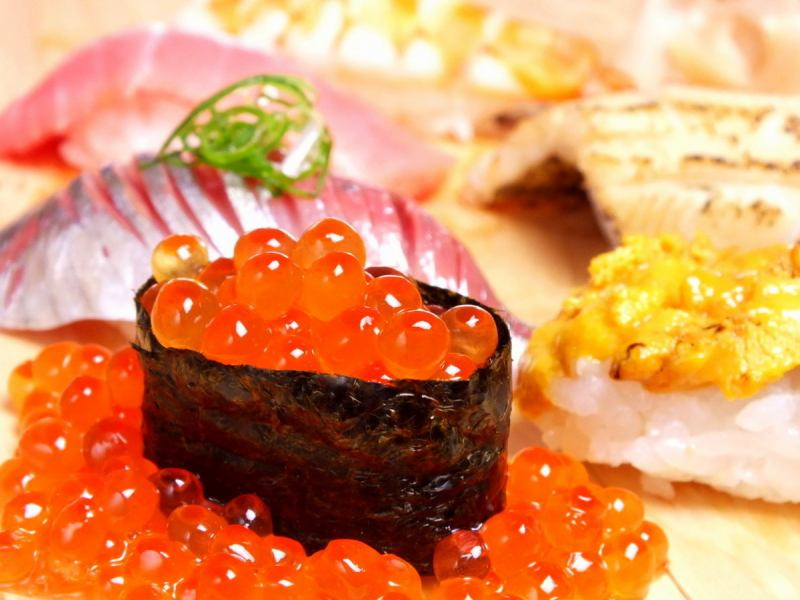 【Counter Limited】 SUSHI COURSE with Chawanmushi Stove! 10 YEN 3500 YEN (excluding tax) ★ 8 YEN 2500 YEN (excluding tax)