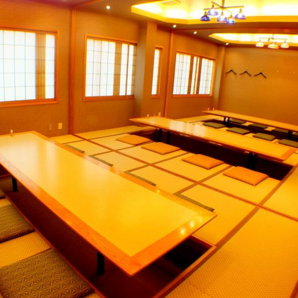 Elegant digging tatami room full of Japanese second floor sum.It is perfect for various banquets and entertainment as it is a fully-private room that can accommodate up to 30 people if you do not mind ◎ ※ Private rooms are available for more than 5 people.