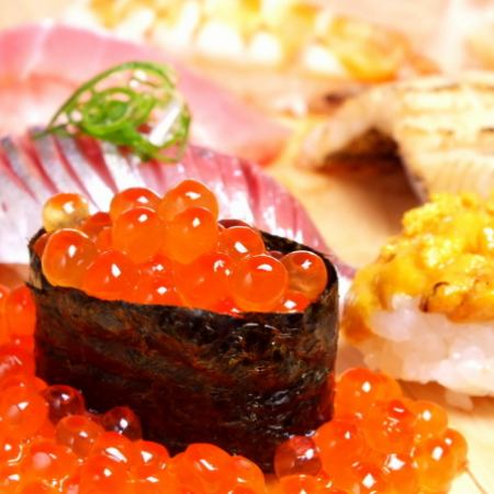 ~ Recommended for adult dates and memorials ~ 【Counter Limited】 Sushi course with tea chestnut! 10 thousand yen (tax excluded)