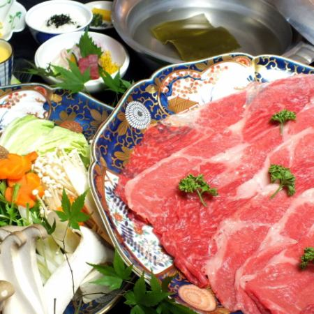 ■ Special selection Awa beef shabu shabu 6 items 7000 yen (tax excluded) - Special selection Awa beef selected carefully by chefs and seasonal festivals -
