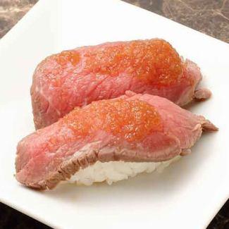 ローストビーフ寿司(2貫)