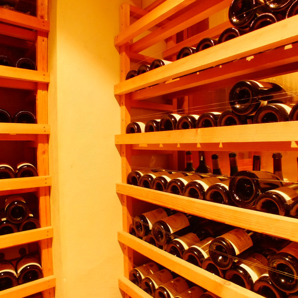 Approximately 400 selected wines