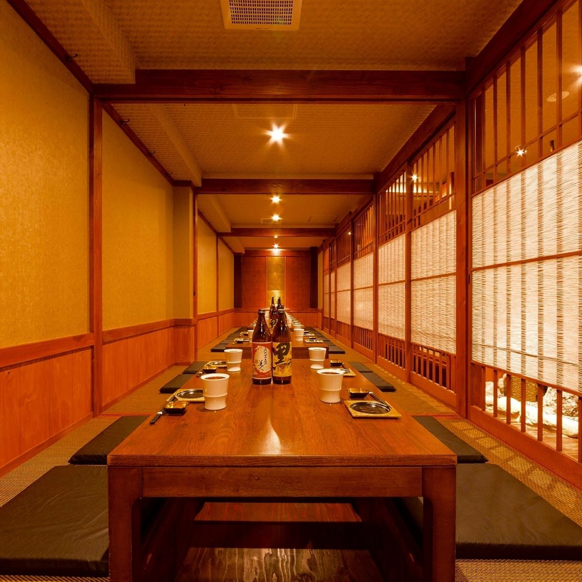 All seats are digging your stand-type private room.A banquet in a private space.