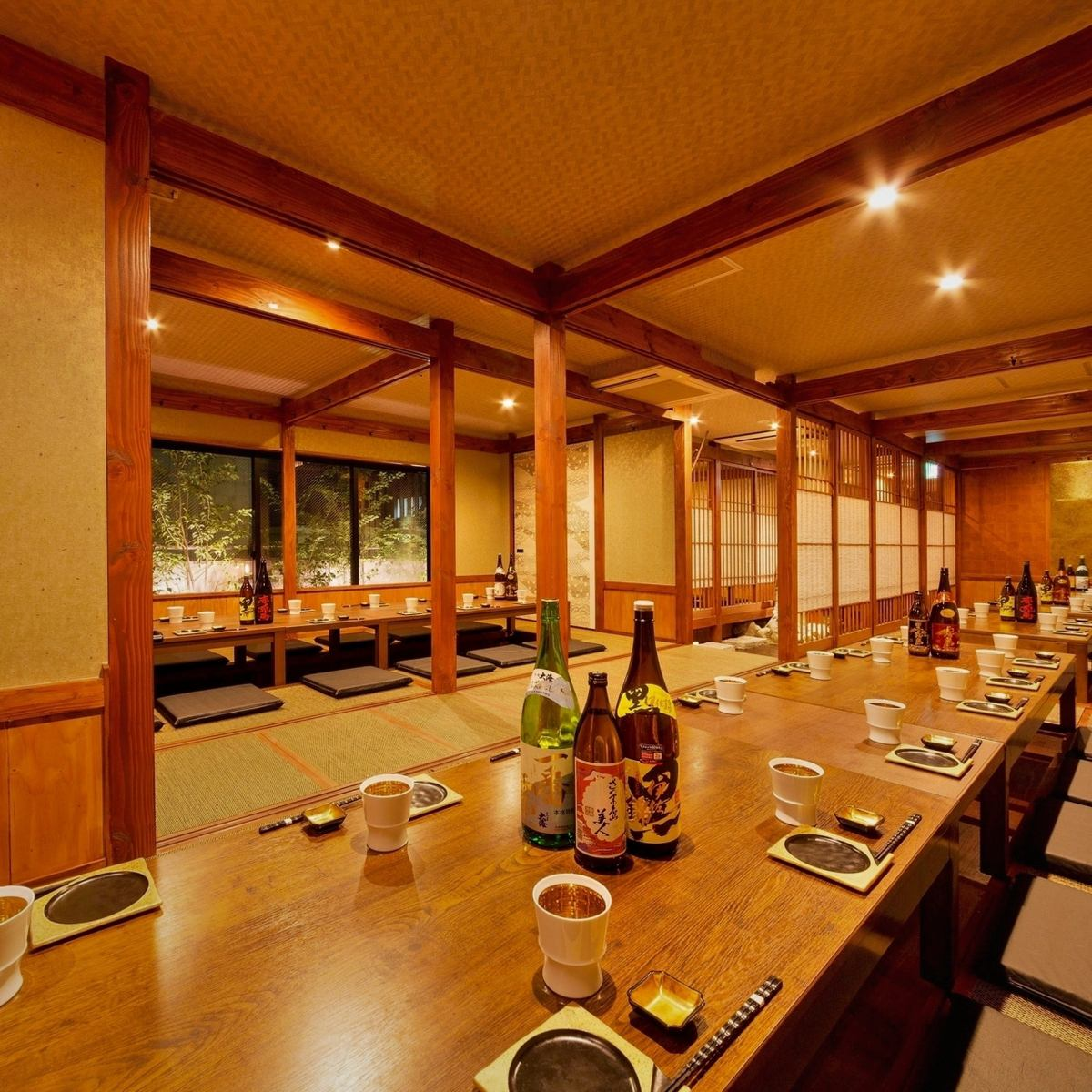 All-seats digging tatami room ♪ We will be handy for company banquets! Great banquet OK ♪