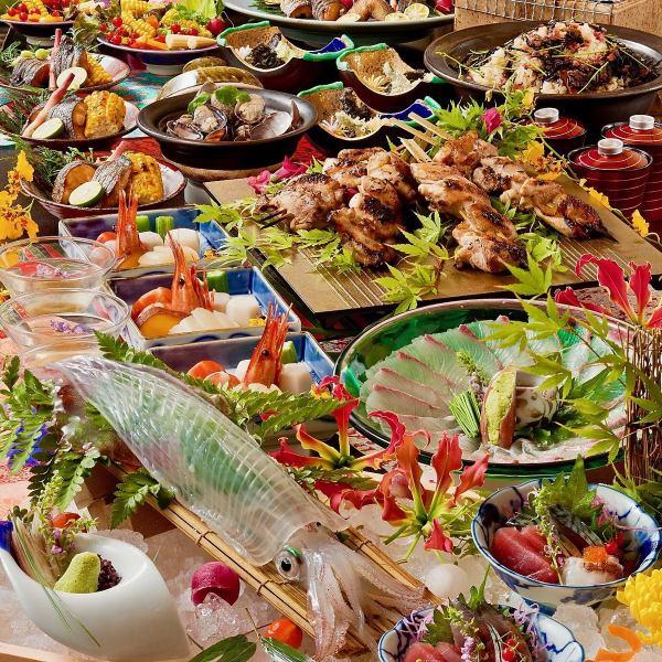 如果你想在天神站宴會,來我們店是廣泛地提供給所有你暢飲與課程4000日元至7000日元,很開心!