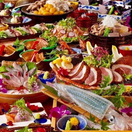 [三月四月五月]6000日元当然喝无限150分钟所有12道菜6000日元(含税)[日本包房和宴会]的盛宴匠