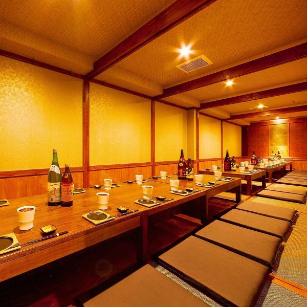 【Close to the station × Japanese style private dining room】 2 minutes on foot from Tenjin Station, we have a dining room for up to 70 people, so we have a large banquet including a large number of welcome party, farewell party, various second party etc. OK! Banquet / drink Please enjoy the party in a relaxing private space in a fully calm and private room.