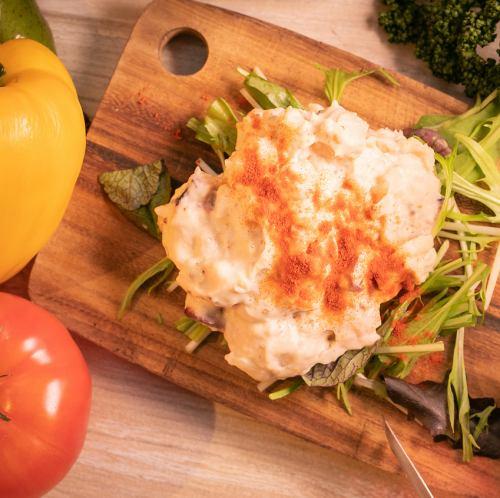 タコのガリシア風ポテトサラダ
