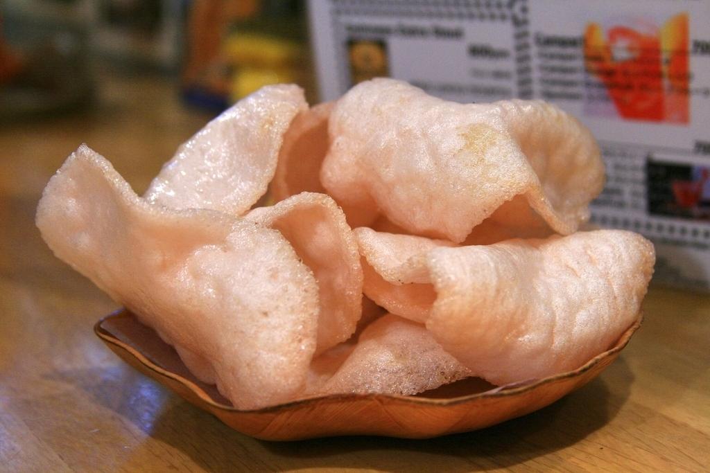 大蒜盐辣Espa虾饼干