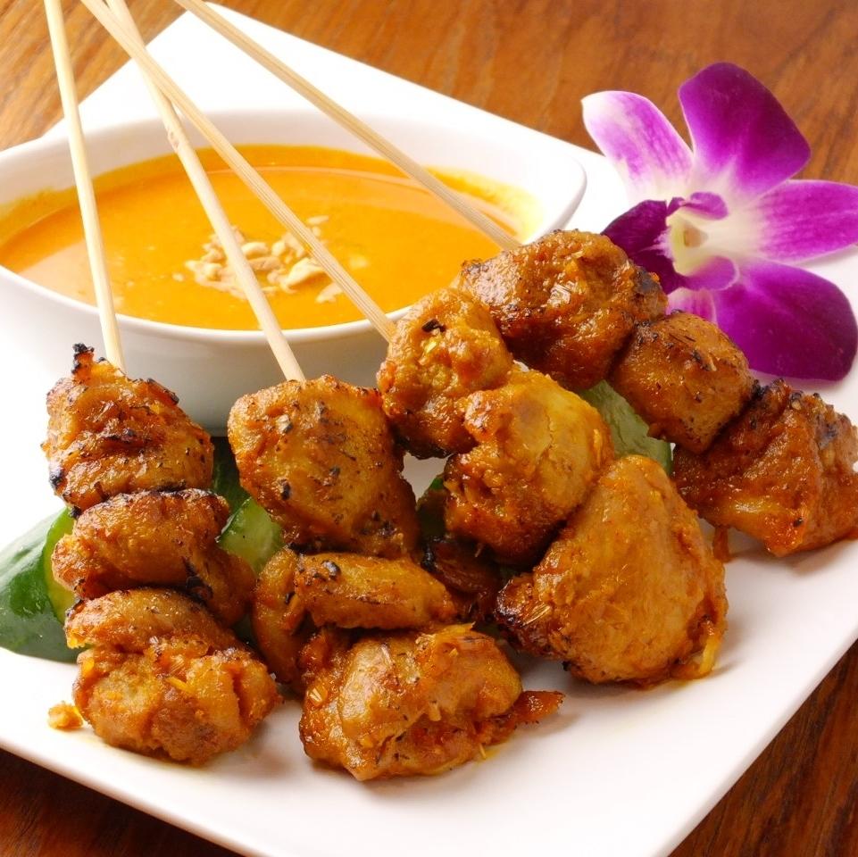 싱가포르 꼬치 찌킨사테 Chicken Satay