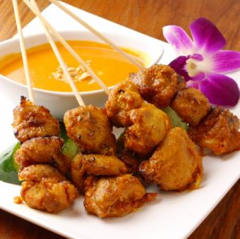 新加坡串燒雞大醬雞肉沙爹