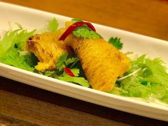 三角カレー春巻(4ヶ) Curry Spring Roll