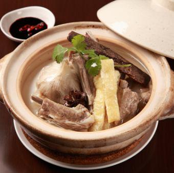 """肉骨茶""""バクテー""""(カットチリ+油条付) Bak Kut Teh (小/大)"""