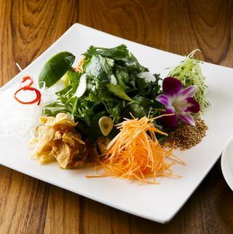 山盛りパクチーサラダ シンガポール撈起(ローヘイ)スタイル Singapore Lo Hei Salad