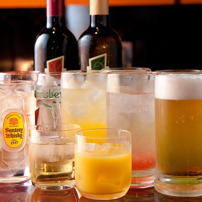 The overwhelming variety of drinks are available in 50 kinds and 100 kinds of 2 kinds