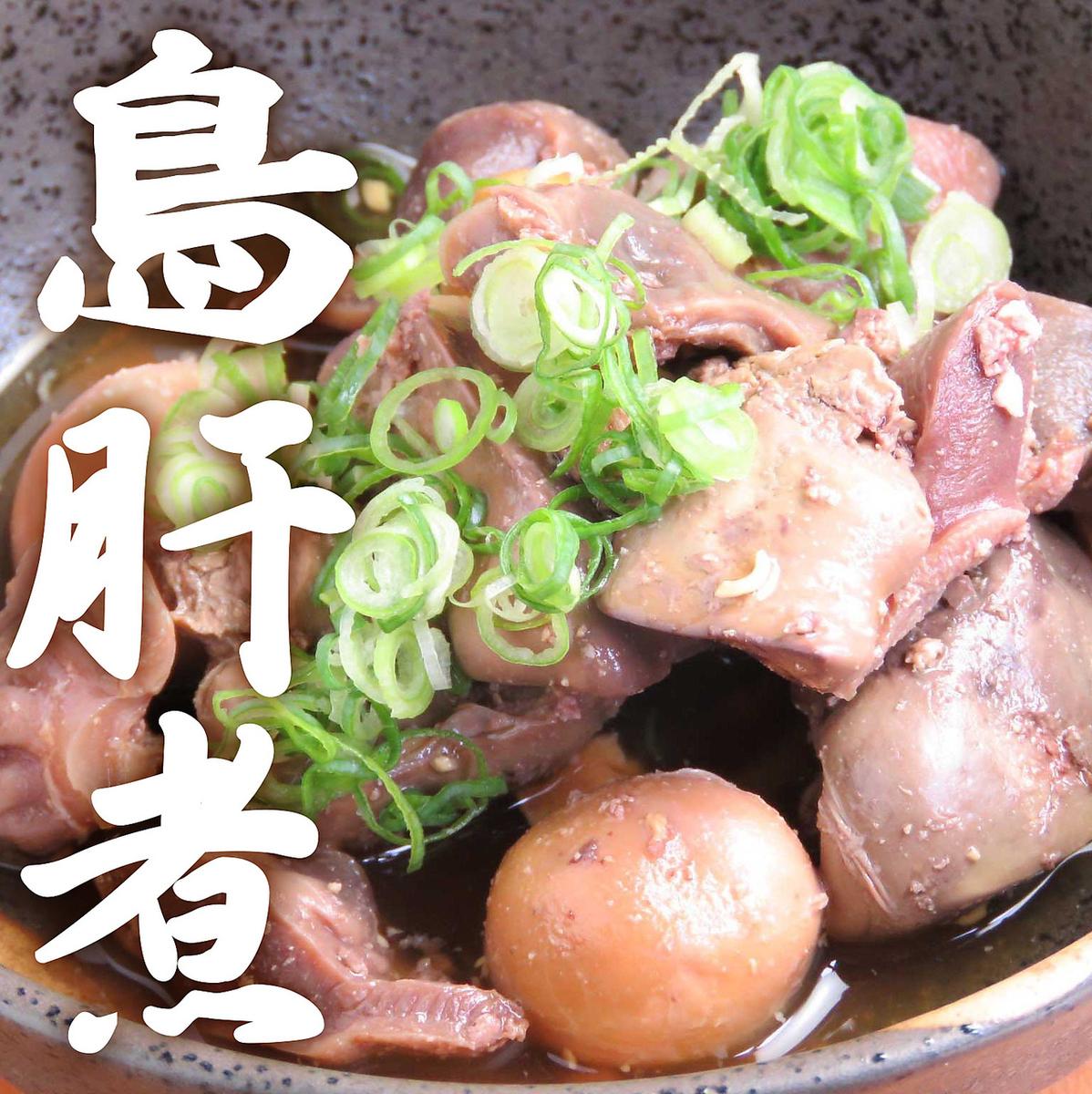<おつまみ>鳥肝煮/肉豆腐