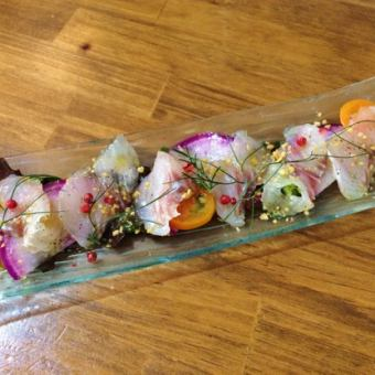 Carpaccio with fresh fish of Suruga Bay