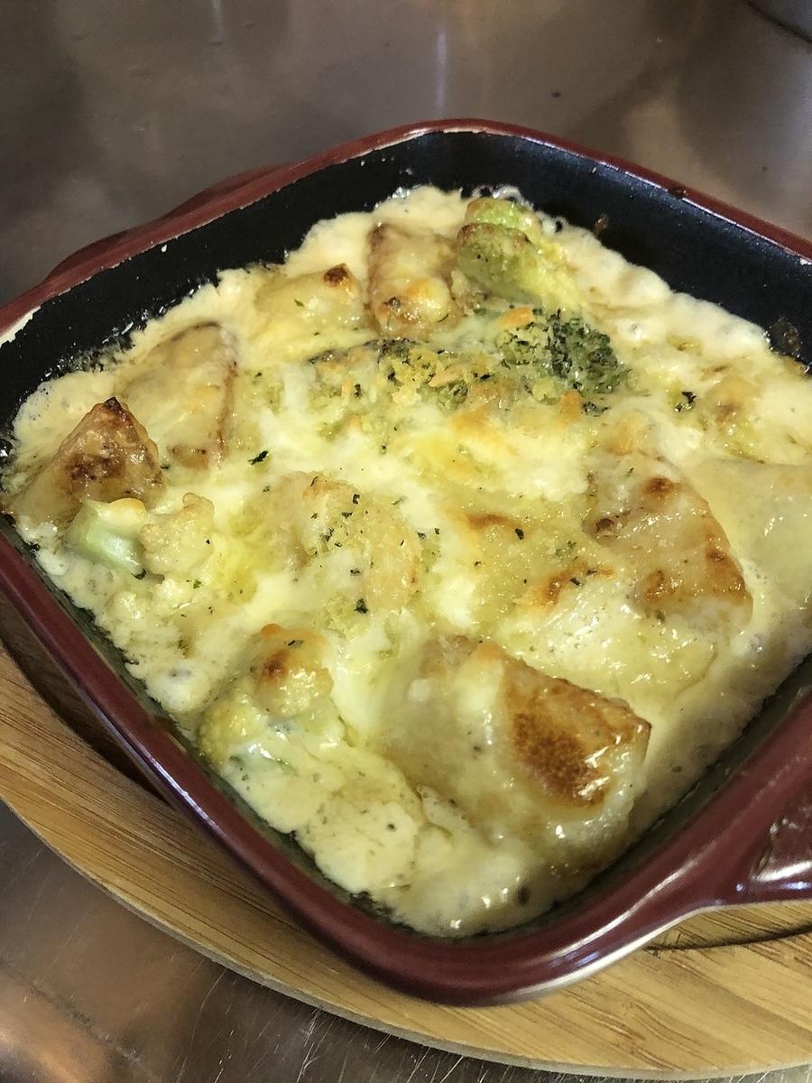 Scallop blue cheese gratin