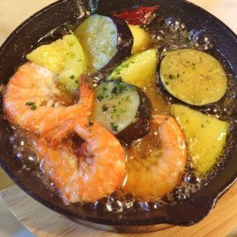 蝦和靜岡蔬菜ahijo