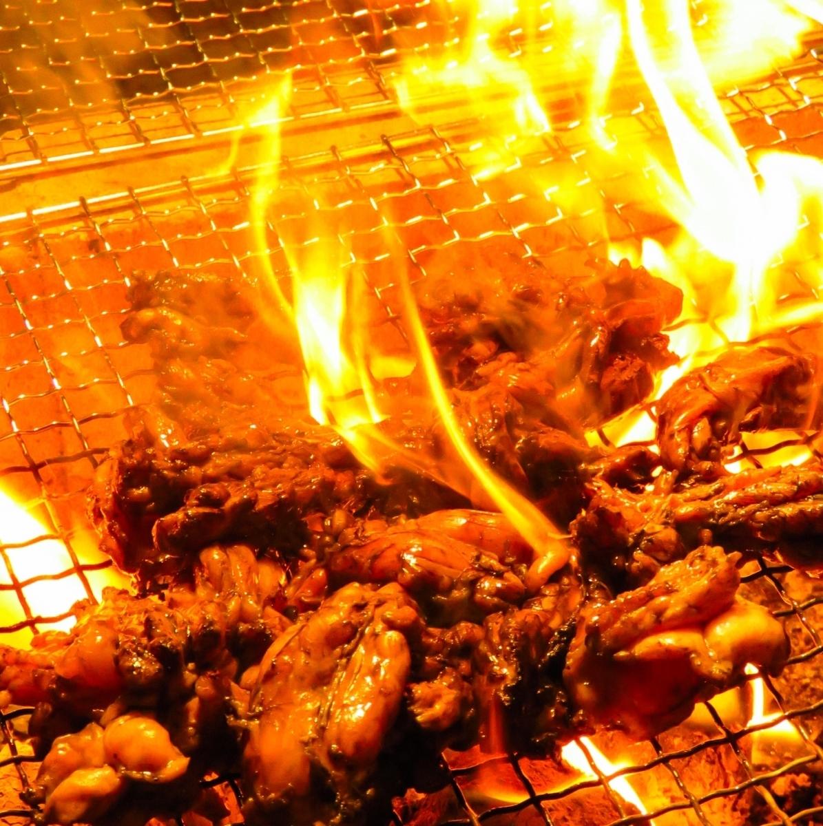 Charcoal grilling of Troseseri