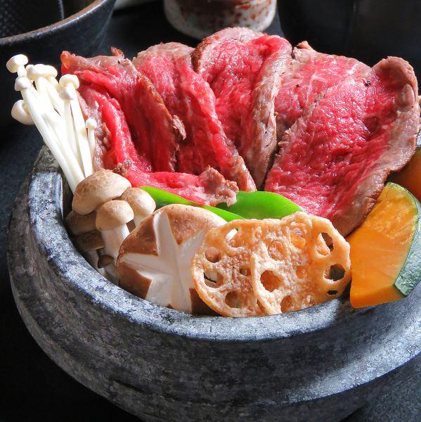主要和深度...創造石烤鹹菜 - 和牛牛肉 -