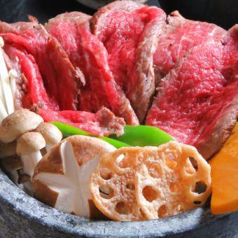 【選擇的豪華選擇!〜石烤牛肉牛肉烤Ochazuke~豪華宴會套餐】8道菜+ 2 H [喝] 4500→4000日元