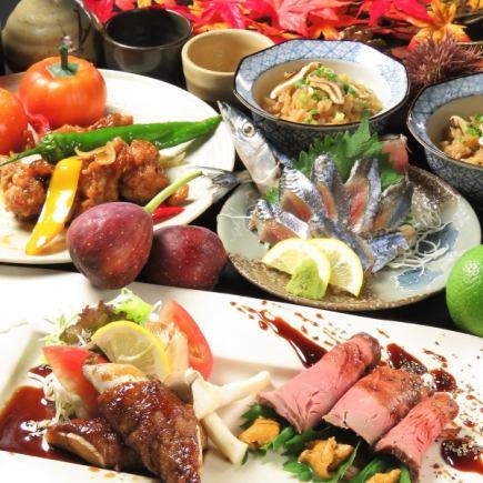 [管理器按]生海膽烤牛肉等(全部12道菜)★4000日元包括與每天喝發布咖啡稅※3小時