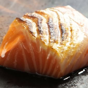 Salmon broiled stab