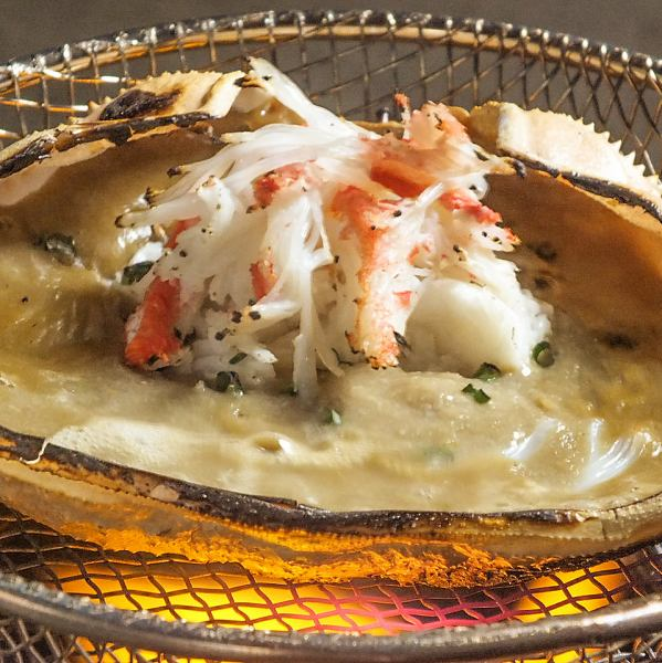 【Specialties!】 Crab miso sauce 864 yen! Steamed crab miso with fresh sashimi you can eat even with sashimi