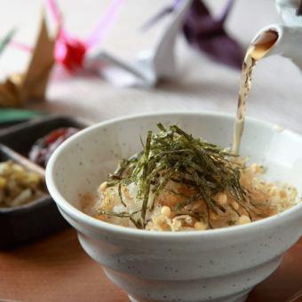 京番茶のぶぶづけ(京漬物付き)