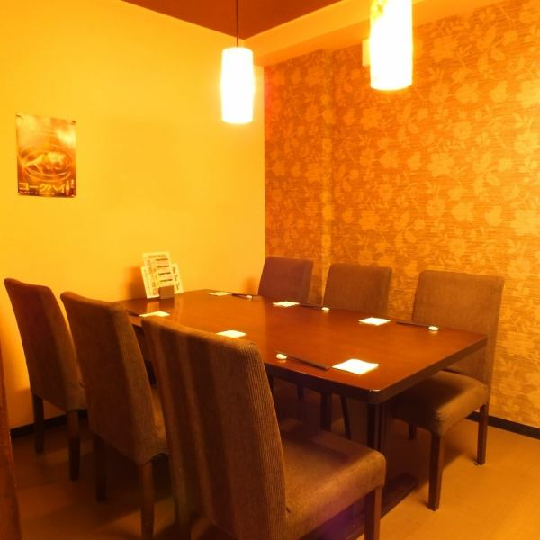 A private table that can accommodate up to 6 people. Recommended for small and medium banquet, entertainment ♪ You can relax and eat without worrying about surroundings.
