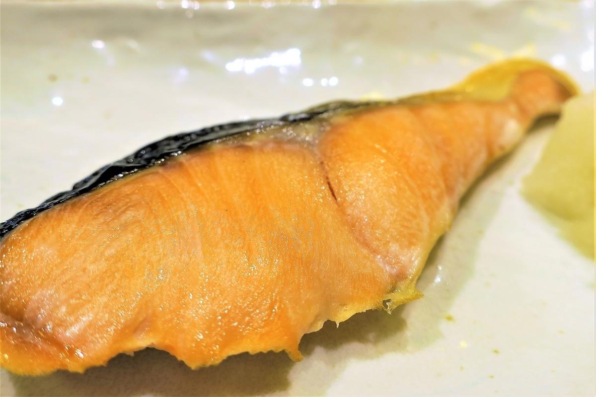 Toko salmon grilled salt sauce