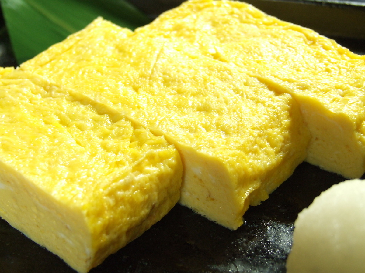 Homemade and rolled egg