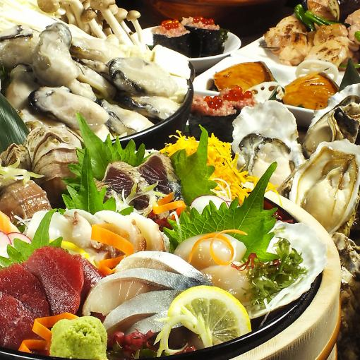 ★ Luxury ★ 【Beef shell 3 sunflower · oyster · horse stick · 12 sashimi · crab】 【Including local sake 120 minutes drinking】 with ◆ 9000 yen → 8000 yen ◆