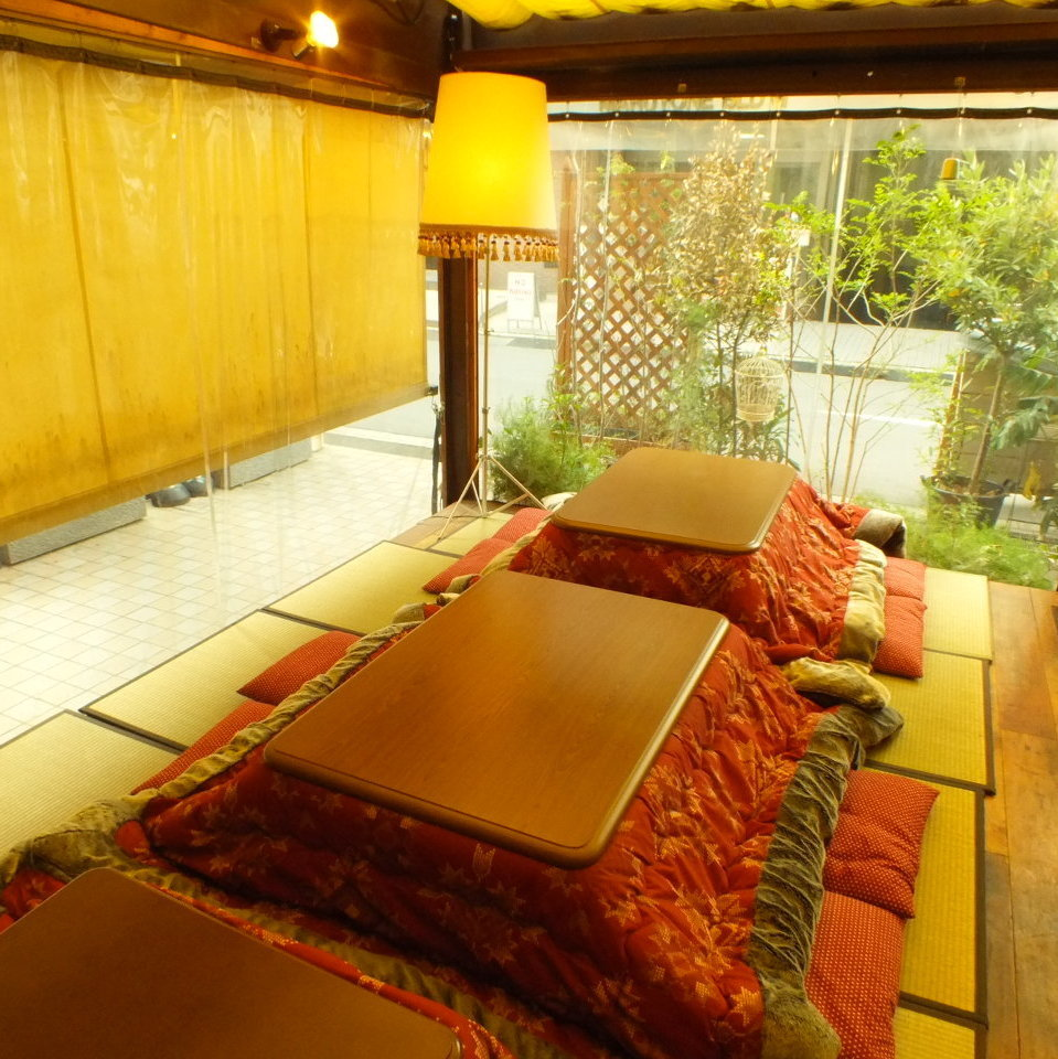 【Winter Limited】 Kotatsu Terrace is the most popular seat in winter ★ Large number of people is OK!