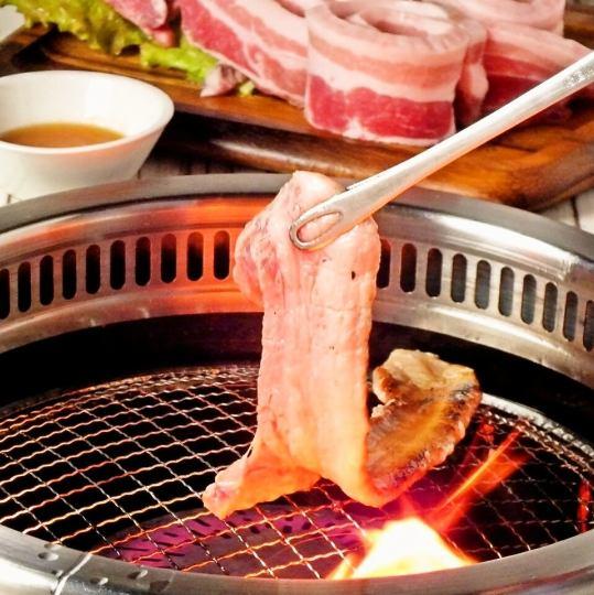 【告别住宿◎】特别Samgyeopsal 120分钟所有你可以吃/所有你可以喝超过60种♪所有9项⇒2960日元
