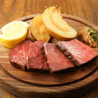 国産牛ランプ肉の炭火焼き