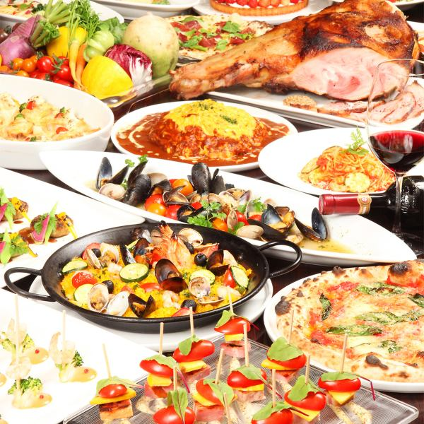 Full-flavored European cuisine of seasonal ingredients in a buffet style