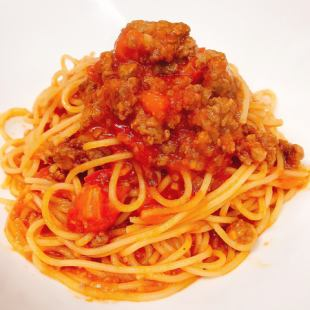 Bolognese with fresh tomato and domestic beef + buffet set