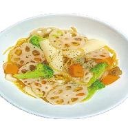 Seafood and autumn vegetable oil pasta + buffet set