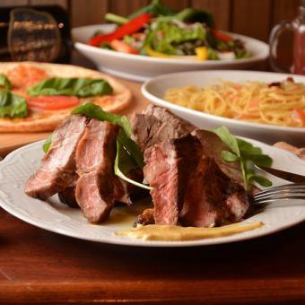 宴會各種★肉類料理♪飲食比較方案90分鐘無限暢飲★各種汽酒和蘋果酒4,000日元
