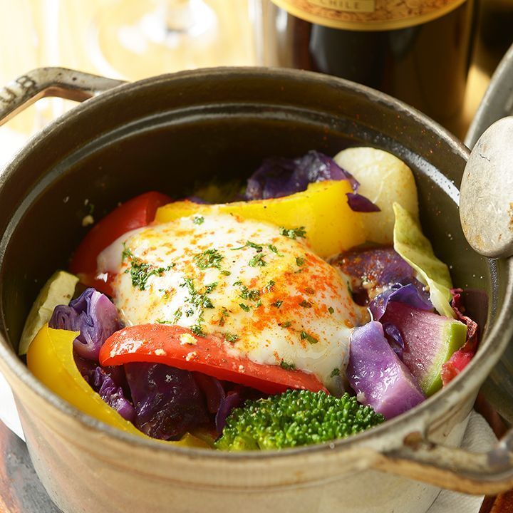 Our specialty! Season 0831 plenty Bezillocast wab pot ~ vegetable soup & hot spring egg ~