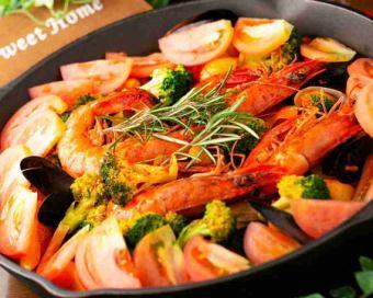 『オーガニックデトックス』たっぷりケールのブイヤベーストマト鍋コース<120分飲放題>3500円