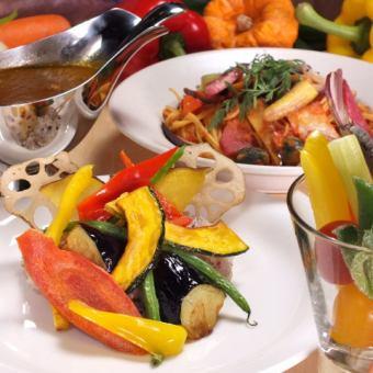 『Lunch』選べるメインのベヂロカランチコース<90分飲み放題>2480