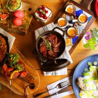 『Lunch』農園サラダバーにローストビーフ!プレミアムランチコース<120分飲み放題>2980