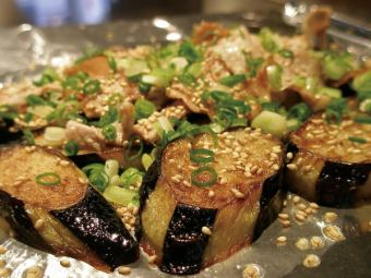 Sliced ​​pork belly with eggplant
