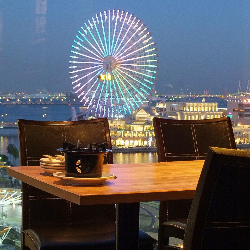인스 발인 장면, 관람차와 빌딩의 환상적인 광경